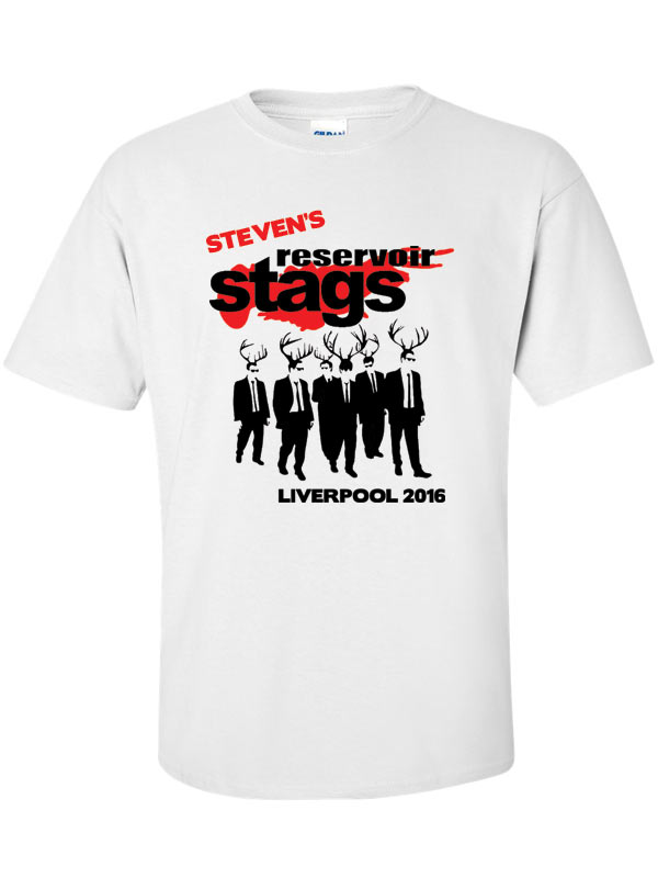 Resevoir dogs stag t shirt the print company oxford for T shirt printing oxford