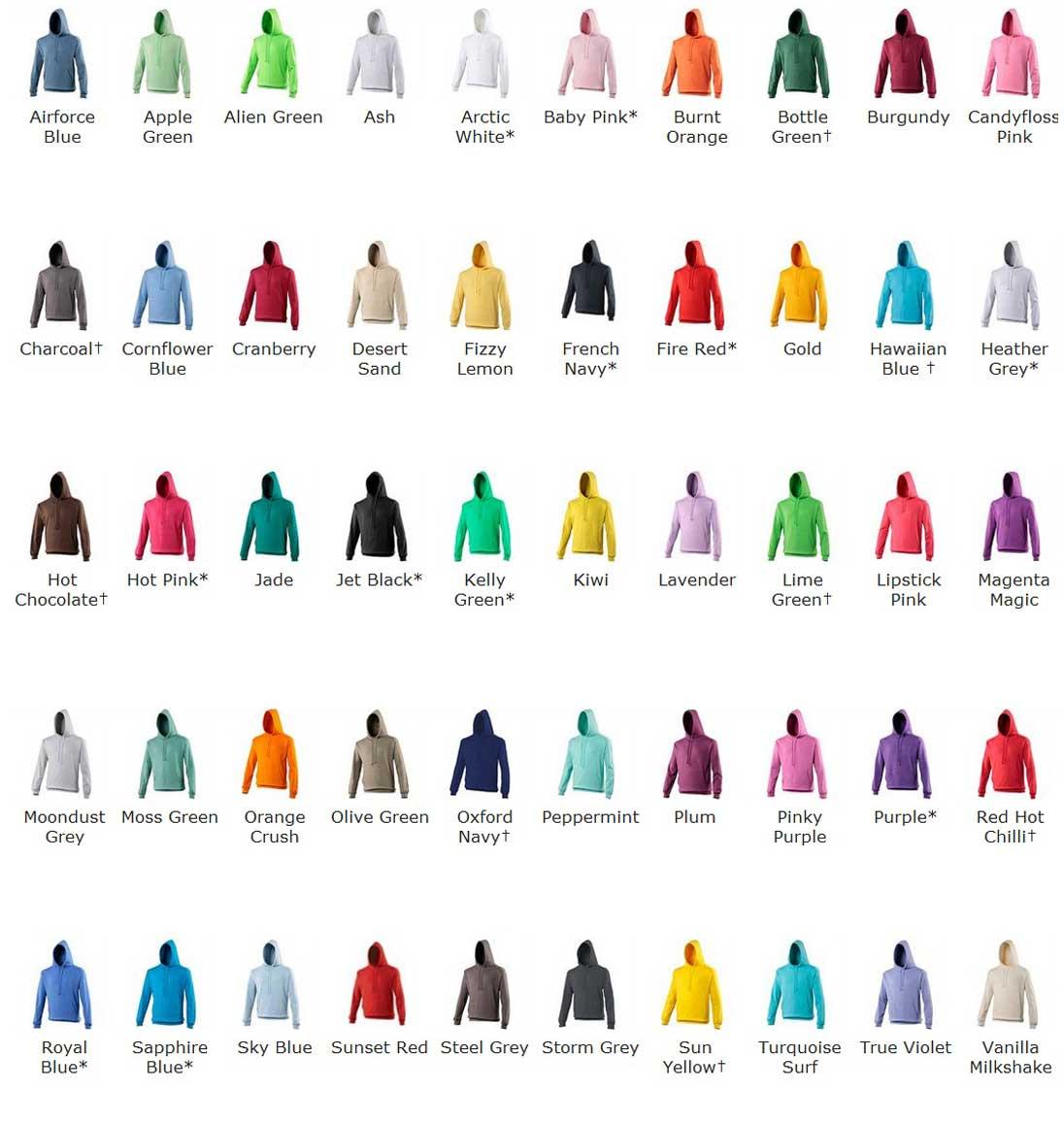 Hoodie-Printing-Colours